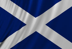 Шотландский флаг Стоковое Изображение
