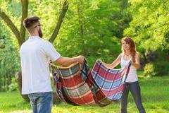 Шотландка пикника стоковые изображения