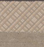 Шотландка с точками и картинами мешковины Стоковое Изображение RF