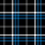 Шотландка черной текстуры ткани квадрата пиксела проверки безшовная бесплатная иллюстрация