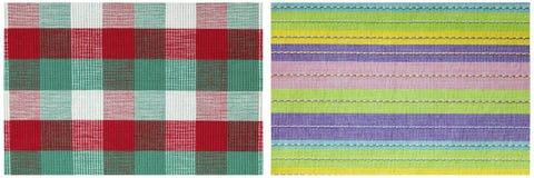Шотландка stripes обои ткани ткани Стоковое Фото