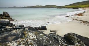 Шотландская береговая линия в острове Левиса hebrides Шотландия Великобритания Стоковое Изображение RF