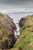 Шотландская береговая линия утеса Стоковая Фотография