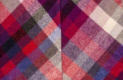 Шотландская картина тартана Красная печать шотландки как предпосылка Стоковая Фотография