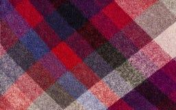 Шотландская картина тартана Красная печать шотландки как предпосылка Стоковое Фото