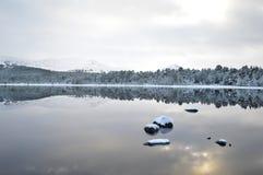 Шотландская страна чудес зимы Стоковая Фотография