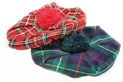 Шотландская шляпа тартана bookbinding стоковое изображение