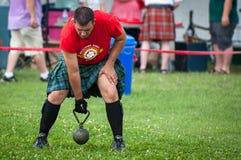 Шотландские игры гористой местности стоковое фото