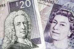 Шотландские и английские банкноты Стоковые Изображения RF
