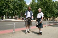 Шотландские футбольные болельщики Стоковая Фотография RF