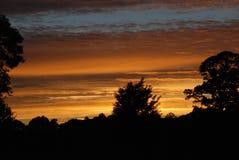 шотландский заход солнца Стоковые Фото