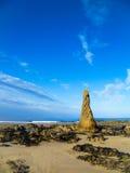 Шотландский пляж обозревая Северное море Стоковая Фотография RF