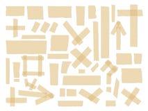 Шотландский, собрание клейкой ленты, различные части размера изолированные на белой предпосылке вектор комплекта сердец шаржа при Стоковое Фото