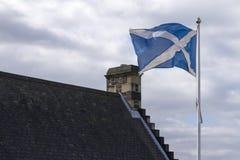 Шотландский флаг Стоковое Фото