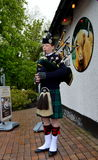 Шотландский Bagpiper стоковое фото