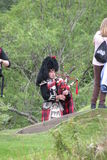 Шотландский Bagpiper Стоковая Фотография RF