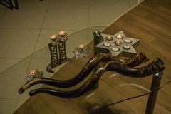 Шофар праздник синагога иудейство Стоковое Изображение