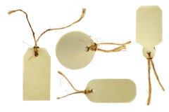 шпагат веревочки связанный бирками Стоковое Фото