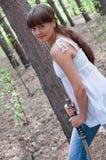 шпага девушки Стоковое фото RF