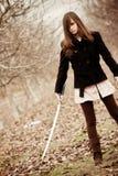 шпага девушки Стоковое Фото