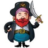 шпага пирата шаржа Стоковые Изображения