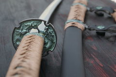 Шпага самураев Katana Стоковая Фотография