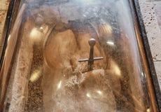 Шпага Сан Galgano стоковая фотография rf