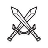 Шпага средневекового рыцаря иллюстрация штока