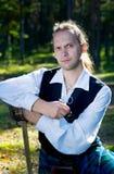 шпага scottish трубы человека costume Стоковое Фото