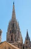 шпиль собора barcelona готский Стоковая Фотография