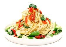 шпинат макаронных изделия chili Стоковое Изображение RF