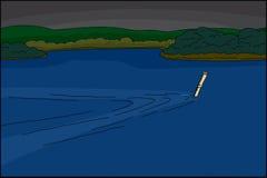 Шпионка плавая под водой бесплатная иллюстрация
