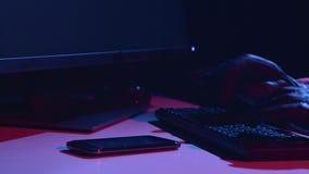 Шпионьте типы данные по вируса, на таблице там телефон конец вверх сток-видео