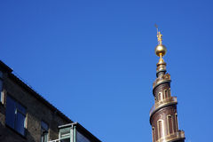 Шпиль Vor Frelsers Kirke Стоковое Фото