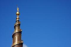 Шпиль Vor Frelsers Kirke Стоковое Изображение RF