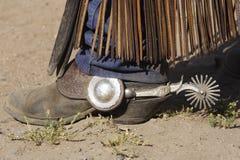 шпора ковбоя ботинка Стоковые Изображения RF