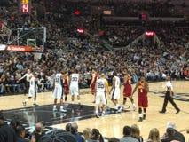 Шпоры игры NBA против Cavs Стоковое фото RF