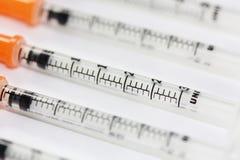 шприцы инсулина Стоковая Фотография RF