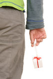 шприц руки подарка Стоковая Фотография RF