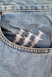 шприц 3 джинсыов медицинского соревнования мешка голубых медицинский Стоковое Изображение