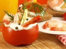 шримсы закуски стоковое изображение rf