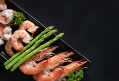 шримсы креветки изолированные предпосылкой белые Морепродукты Стоковое Фото