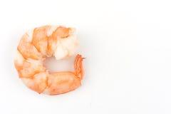 шримсы креветки изолированные предпосылкой белые Морепродукты Стоковая Фотография RF