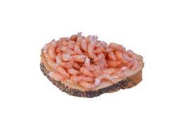 шримсы открытого сандвича стоковые фотографии rf