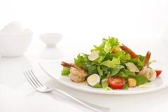 шримсы салата цезаря Стоковое Фото