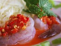 Шримс в соусе рыб Стоковые Фото