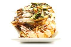 шримс продуктов моря креветки еды тарелки Стоковая Фотография