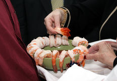 шримс тарелки Стоковое фото RF