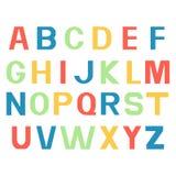 Шрифты алфавита Напечатанные красочные письма Стоковое Изображение