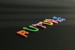 Шрифты слова будущей покрашенные диагональю Стоковые Фото